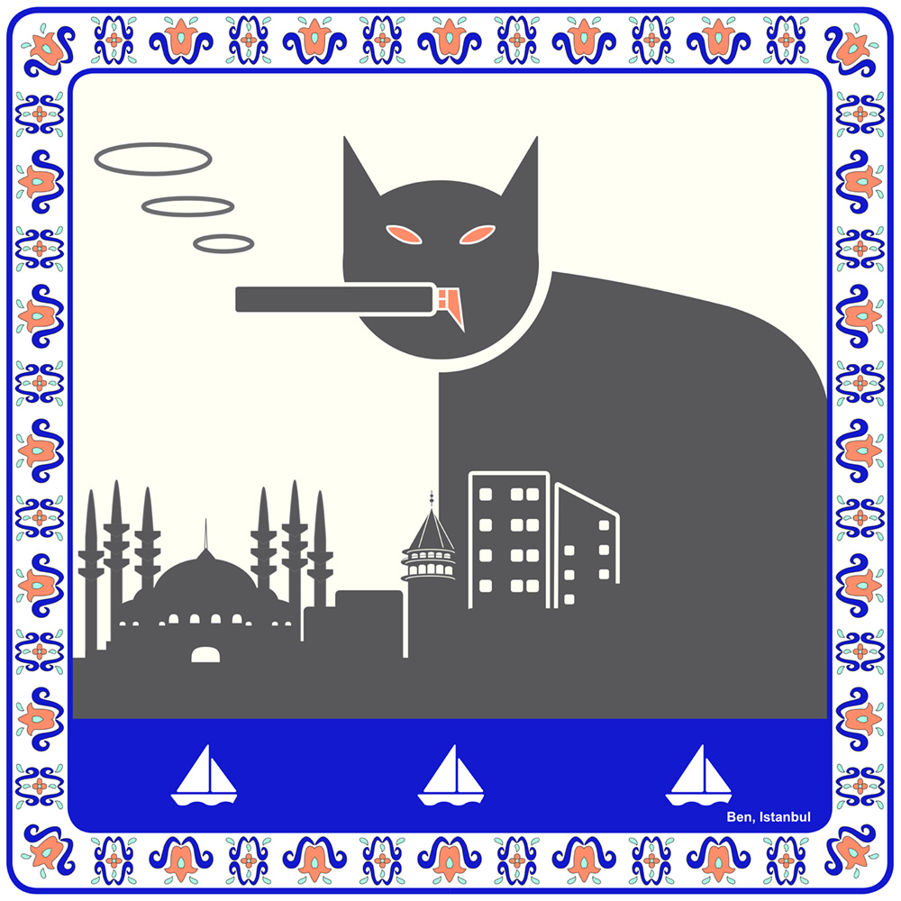 "Piktogramm ""Smoking Cat"""